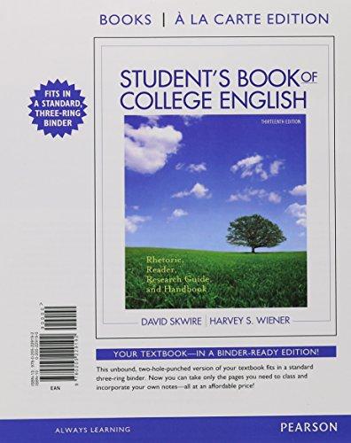 9780205229192 Student S Book Of College English Rhetoric