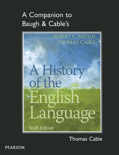 9780205230754: A Companion to Baugh & Cable's A History of the English Language