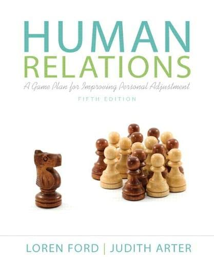 9780205233052: Human Relations: A Game Plan for Improving Personal Adjustment (5th Edition)