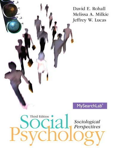 9780205235001: Social Psychology: Sociological Perspectives, 3rd Edition