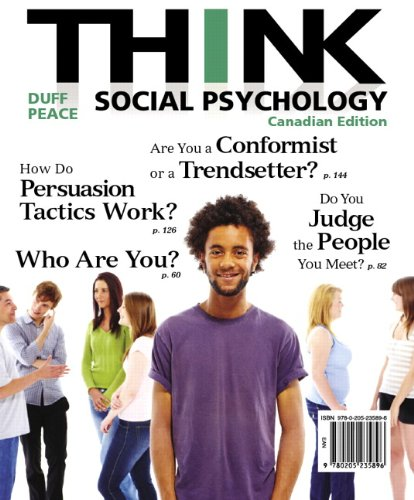 9780205235896: THINK Social Psychology, First Canadian Edition