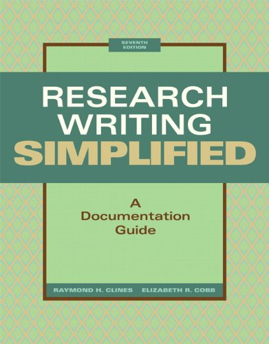 9780205236404: Research Writing Simplified: A Documentation Guide (7th Edition)