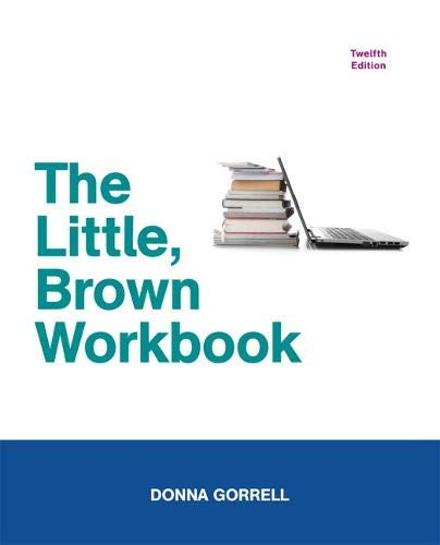 9780205238002: The Little, Brown Workbook (12th Edition)