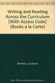 9780205238552: Writing and Reading Across the Curriculum, Books a la Carte Plus MyCompLab -- Access Card Package (11th Edition)