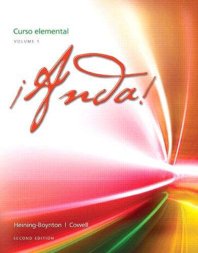 9780205239771: ¡Anda! Curso elemental, Volume 1 (2nd Edition)