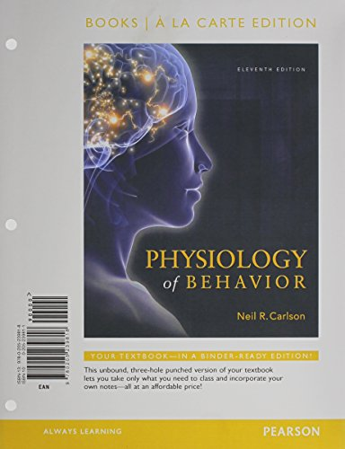 9780205240104: Physiology of Behavior, Books a la Carte Plus NEW MyPsychLab with eText -- Access Card Package (11th Edition)