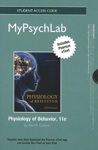 9780205240555: NEW MyPsychLab with Pearson eText -- Standalone Access Card -- for Physiology of Behavior (Mypsychlab (Access Codes))