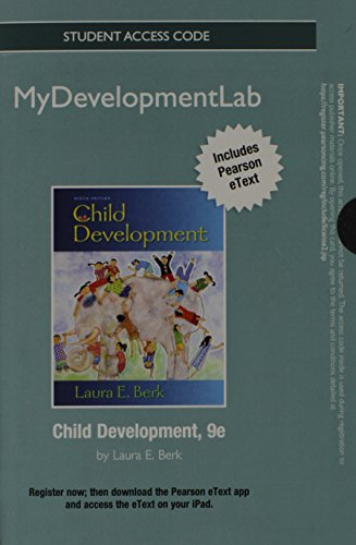 9780205242344: NEW MyDevelopmentLab with Pearson eText -- Standalone Access Card -- for Child Development (9th Edition)