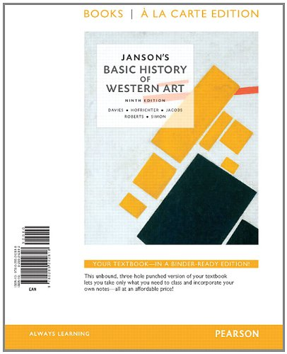 9780205242818: Janson's Basic of History of Western Art, Books a la Carte Edition (9th Edition)