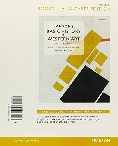 9780205242825: Janson's Basic History of Western Art, Books a la Carte Plus NEW MyArtsLab with eText -- Access Card Package (9th Edition)
