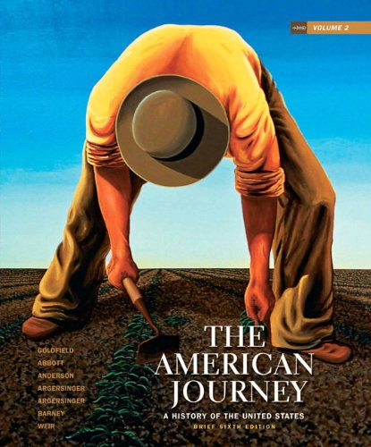 9780205245970: The American Journey: A History of the United States, Brief Edition, Volume 2 Reprint (6th Edition)