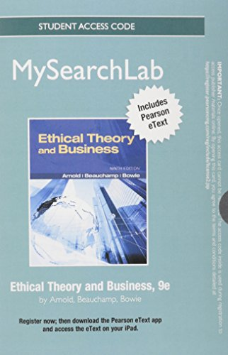 9780205247110: MySearchLab with Pearson eText -- Standalone Access Card -- for Ethical Theory and Business (9th Edition) (MySearchLab (Access Codes))