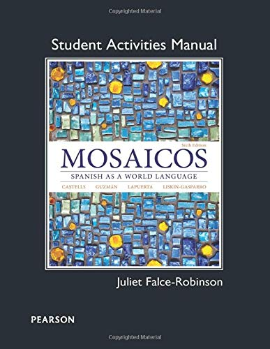 9780205247967: Student Activities Manual for Mosaicos: Spanish as a World Lanaguage