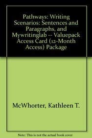 9780205248575: Pathways: Writing Scenarios: Sentences and Paragraphs, and MyWritingLab -- Valuepack Access Card (12-month access) Package (3rd Edition)