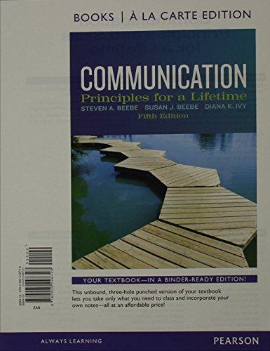9780205248728: Communication: Principles for a Lifetime, Books a la Carte Edition (5th Edition)