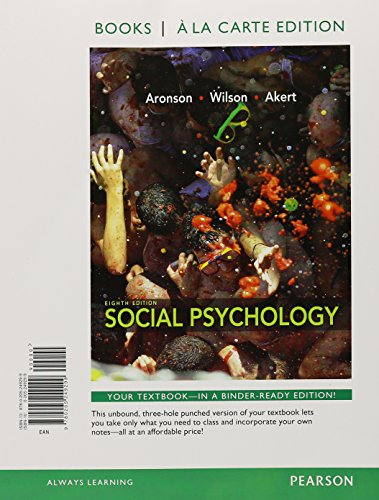 9780205249305: Social Psychology, Books a la Carte Plus NEW MyPsychLab with eText -- Access Card Package (8th Edition)