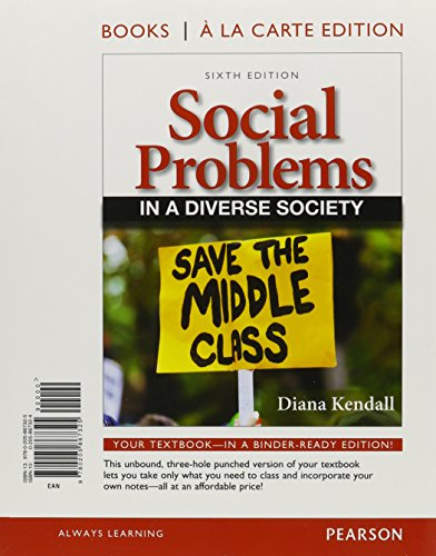 9780205249732: Social Problems in a Diverse Society, Books a la Carte Plus NEW MySocLab with eText -- Access Card Package (6th Edition)