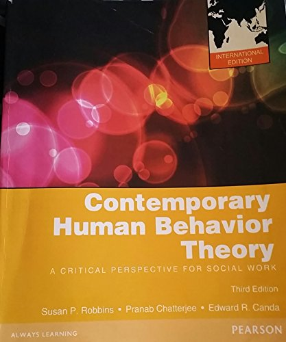 9780205250097: Contemporary Human Behavior Theory A Critical Perspective for Social Work