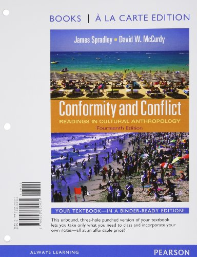 9780205250431: Conformity and Conflict: Readings in Cultural Anthropology, Books a la Carte Edition (14th Edition)