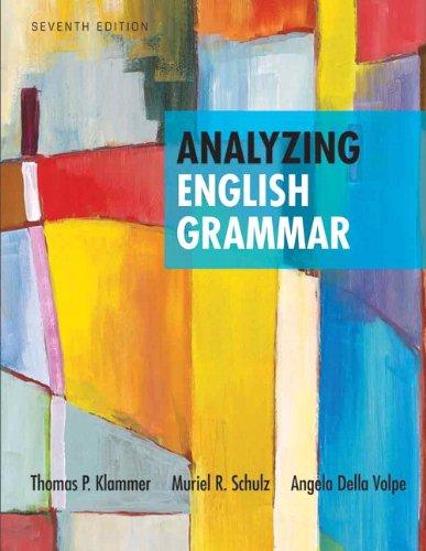 9780205252527: Analyzing English Grammar (7th Edition)