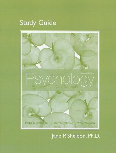 9780205252992: Study Guide for Psychology: Core Concepts