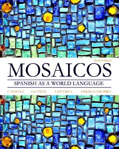 9780205255405: Mosaicos: Spanish as a World Language (6th Edition) - Standalone book