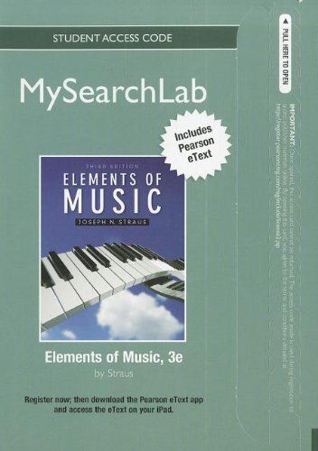 9780205255719: MySearchLab with Pearson eText -- Standalone Access Card -- for Elements of Music (3rd Edition) (MySearchLab (Access Codes))