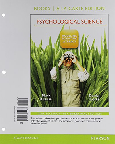 9780205255870: Psychological Science: Modeling Scientific Literacy, Books a la Carte Edition