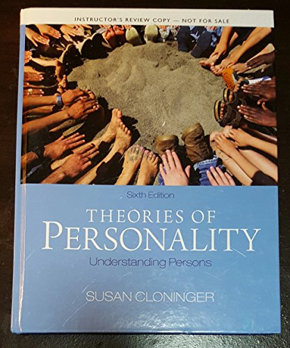 Theories of Personality Understanding Persons (Instructors Review Copy)