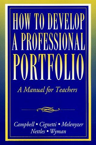 9780205261536: How to Develop a Professional Portfolio: A Manual for Teachers