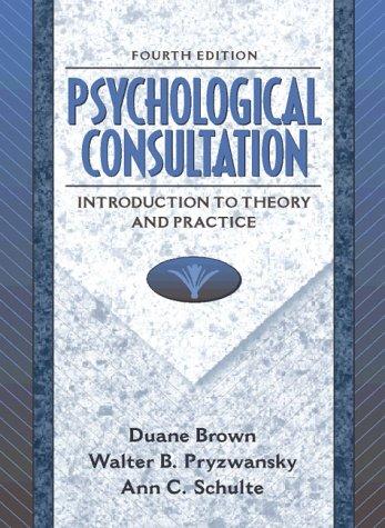 9780205268306: Psychological Consultation