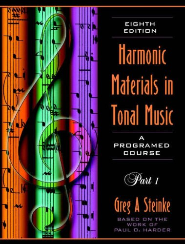 9780205271634: Harmonic Materials in Tonal Music: A Programmed Course: Part 1