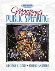 9780205271955: Mastering Public Speaking by George L. Grice (1998-05-03)