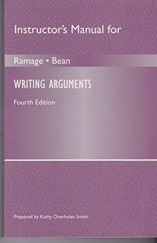 9780205272464: Instructor's Manual for Writing Arguments