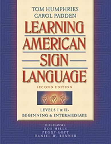 9780205275533: Learning American Sign Language: Levels I & II--Beginning & Intermediate (2nd Edition)