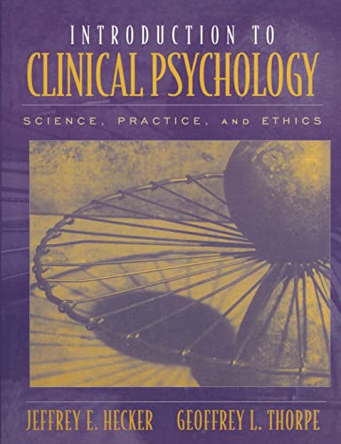 9780205277742: Introduction to Clinical Psychology