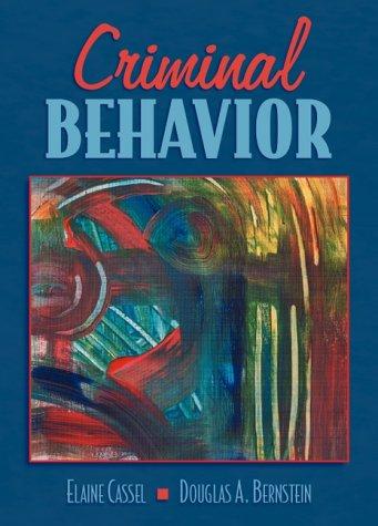 9780205280407: Criminal Behavior