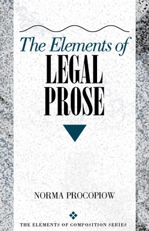 9780205282258: Elements of Legal Prose, The