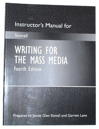 9780205285648: Writing For The Mass Media, Instructor's Manual