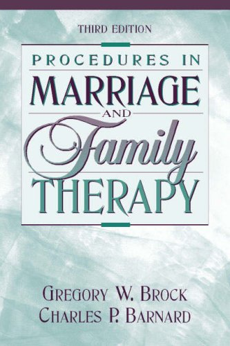9780205287826: Procedures in Marriage and Family Therapy (3rd Edition)