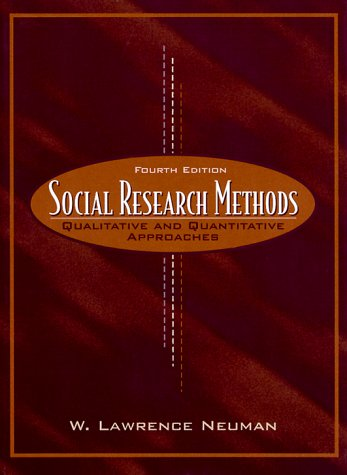 9780205297719: Social Research Methods: Qualitative and Quantitative Approaches (4th Edition)
