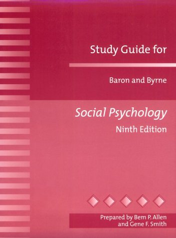 9780205298044: Study Guide for Baron and Byrne Social Psychology