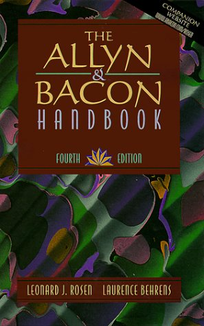 9780205298563: The Allyn & Bacon Handbook (4th Edition)