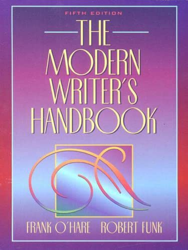 9780205299003: Modern Writer's Handbook, The (5th Edition)