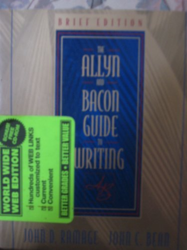 9780205299416: The Allyn and Bacon Guide to Writing: Brief