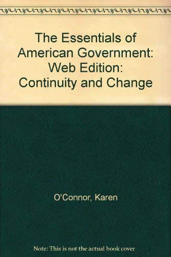 9780205300020: The Essentials of American Government: Continuity and Change