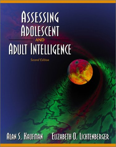 9780205305278: Assessing Adolescent and Adult Intelligence (2nd Edition)