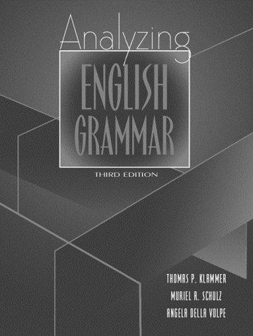 9780205305681: Analyzing English Grammar