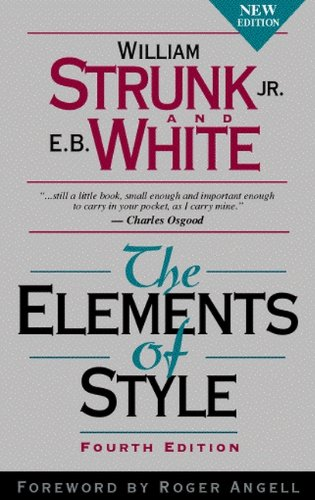 9780205309023: The Elements of Style, Fourth Edition