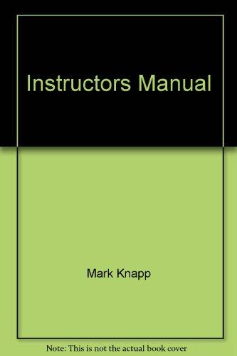 9780205315604: Instructors Manual